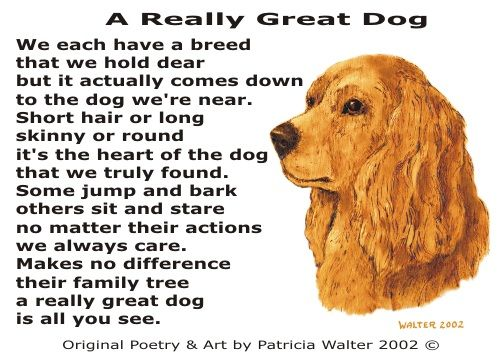 Dog Poetry 1 By Patricia Walter Dog Poems Dogs