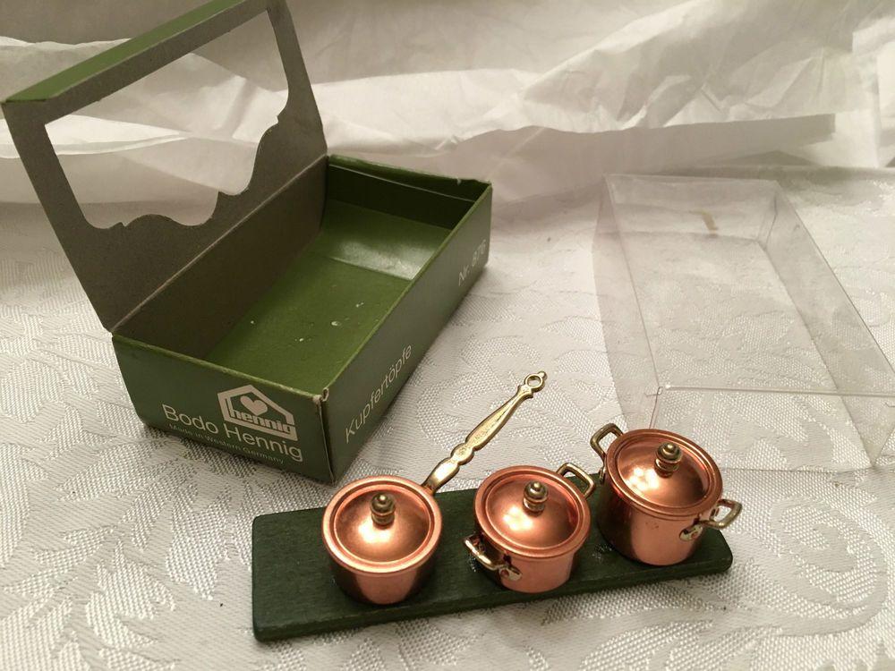 1:12 Scale Dollhouse Miniature Set of 3 Copper Bundt Cake Mold Pans NEW #XV10083