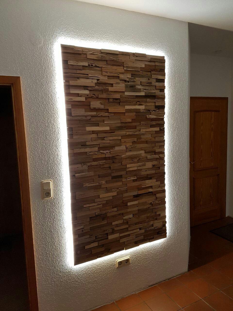 Backlight Deco Bar Beleuchtung Wandgestaltung Wohnzimmer Holz