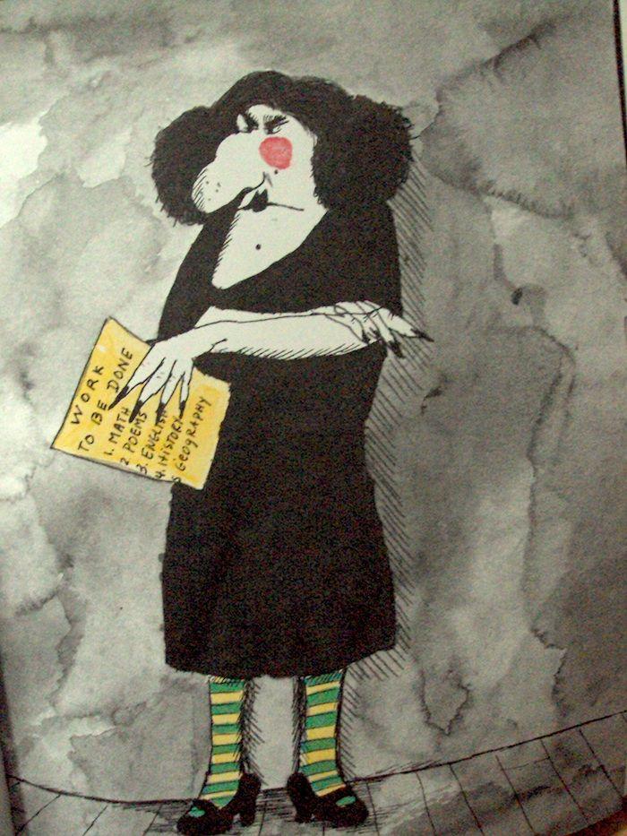 Original psycho mean teacher Miss Viola Swamp The fact that she
