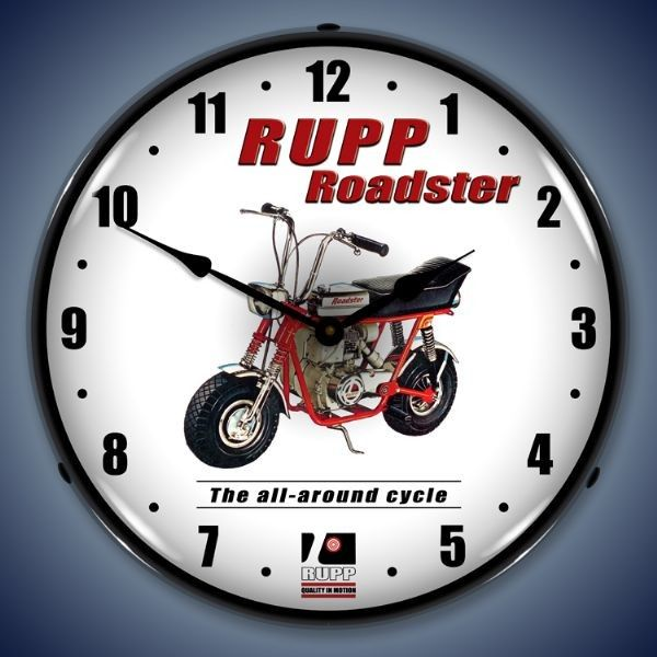 Rupp Minibike Led Lighted Wall Clock 14 X 14 Inches Wall Clock Light Clock