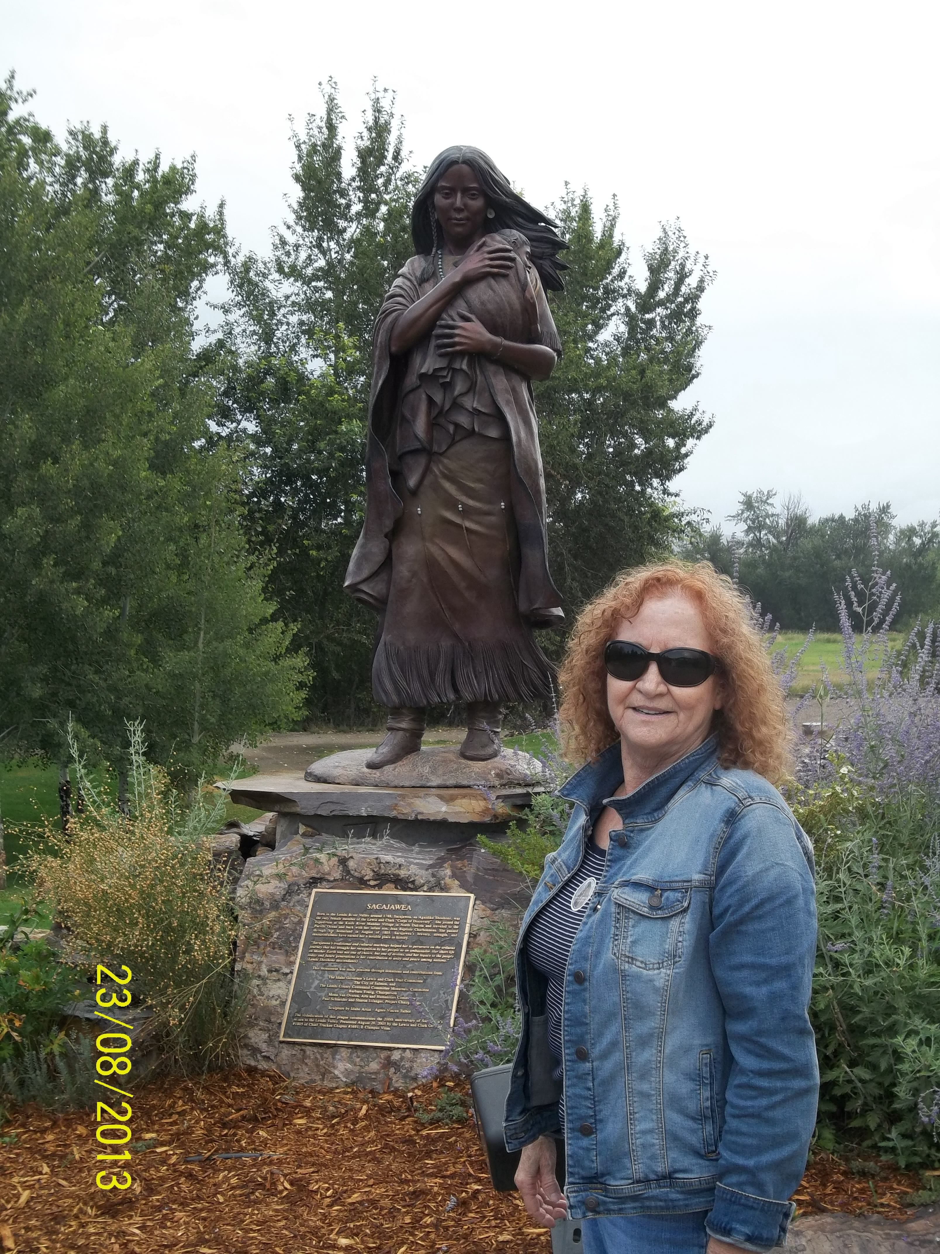 At The Statue Of Sacajawea In Salmon Idaho The Grounds