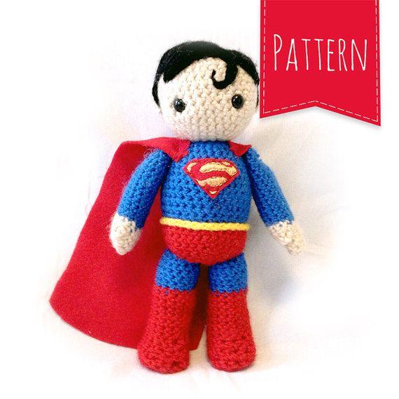 Superman Crocheted Plush PATTERN | knitting | Pinterest | Tejido ...