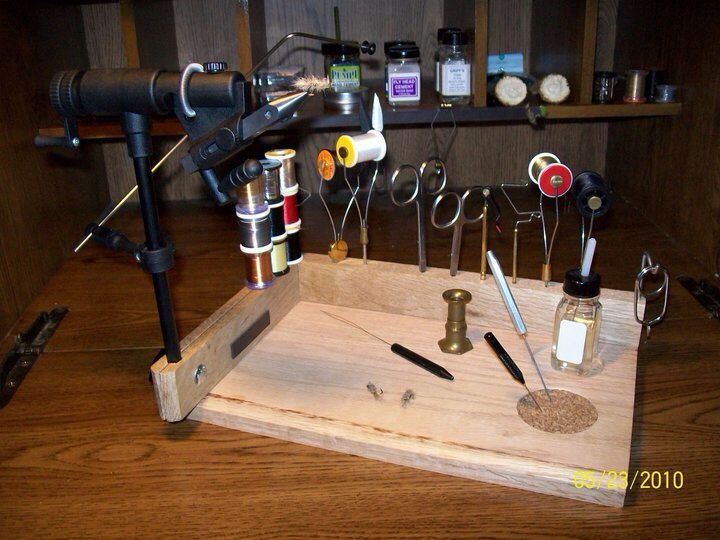 Small Portable Fly Tying Station Oak And Poplar If I