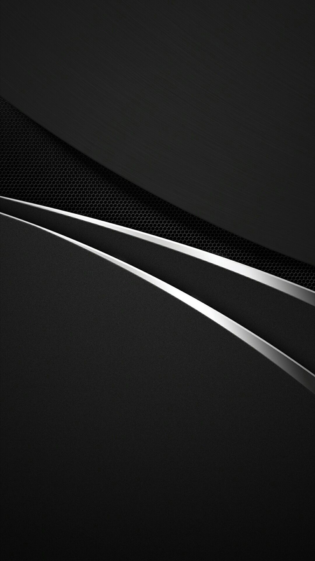 Layered Black Chrome Trim Wallpaper Android Wallpaper Cellphone