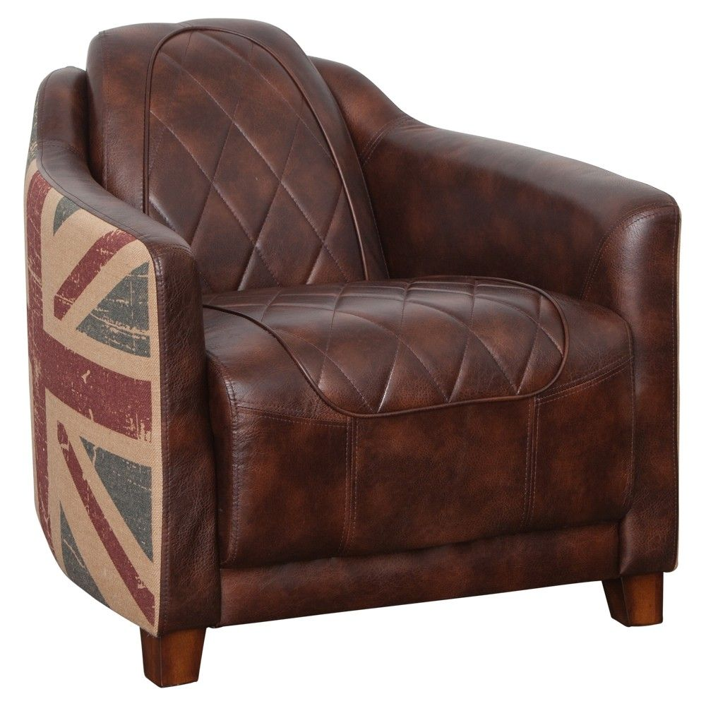 Halo Occasional Chair Vintage Bonded Leather Brown Union