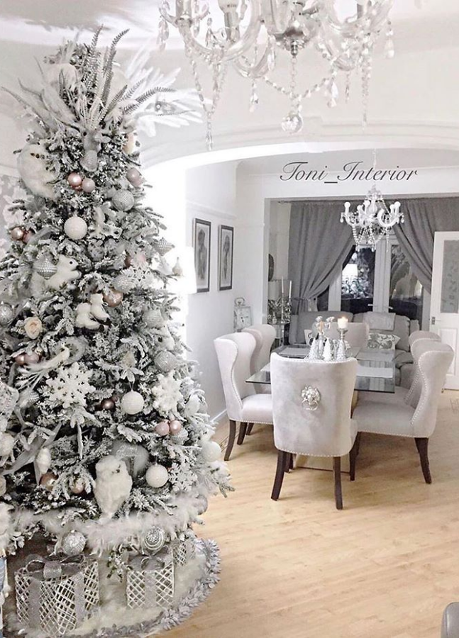 82 Best Christmas Scenes Page 75 Of 82 Lily Fashion Style White Christmas Decor White Christmas Trees White Christmas Tree Decorations