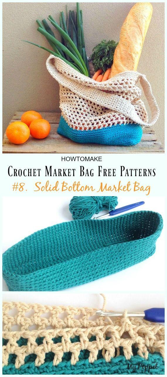 25 Crochet Market Bag kostenlose Muster #amigurumifreepattern