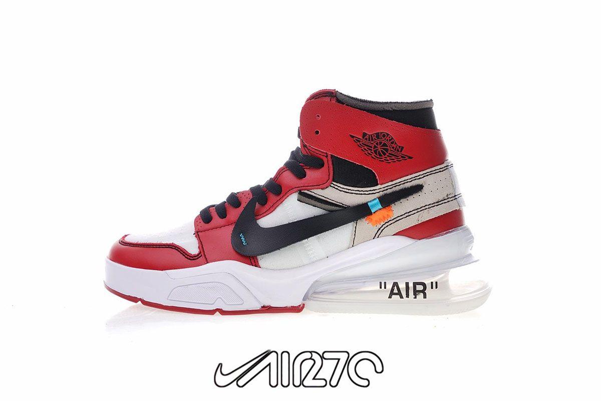 Custom Nike Air Force 270 x Off White Jordan 1 Hybrid