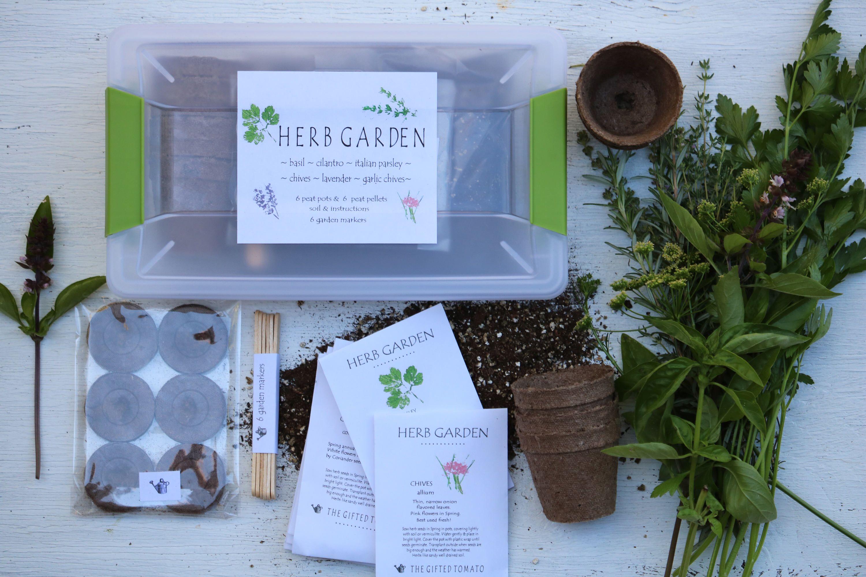 Herb Garden Kit Gardening Gift Organic Seeds 6 Packets Of
