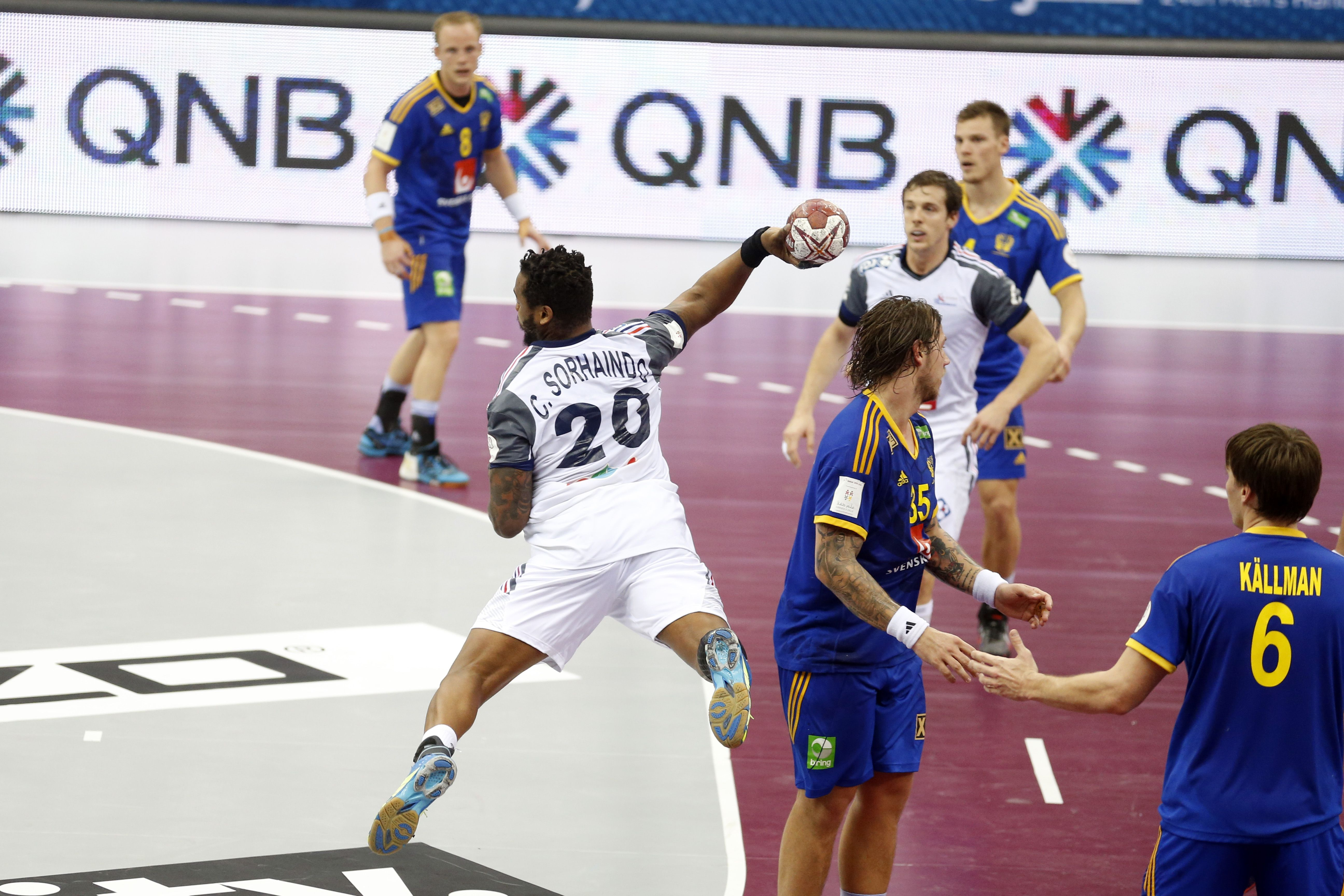 France against Sweden 24.01.2015 All matches are played on