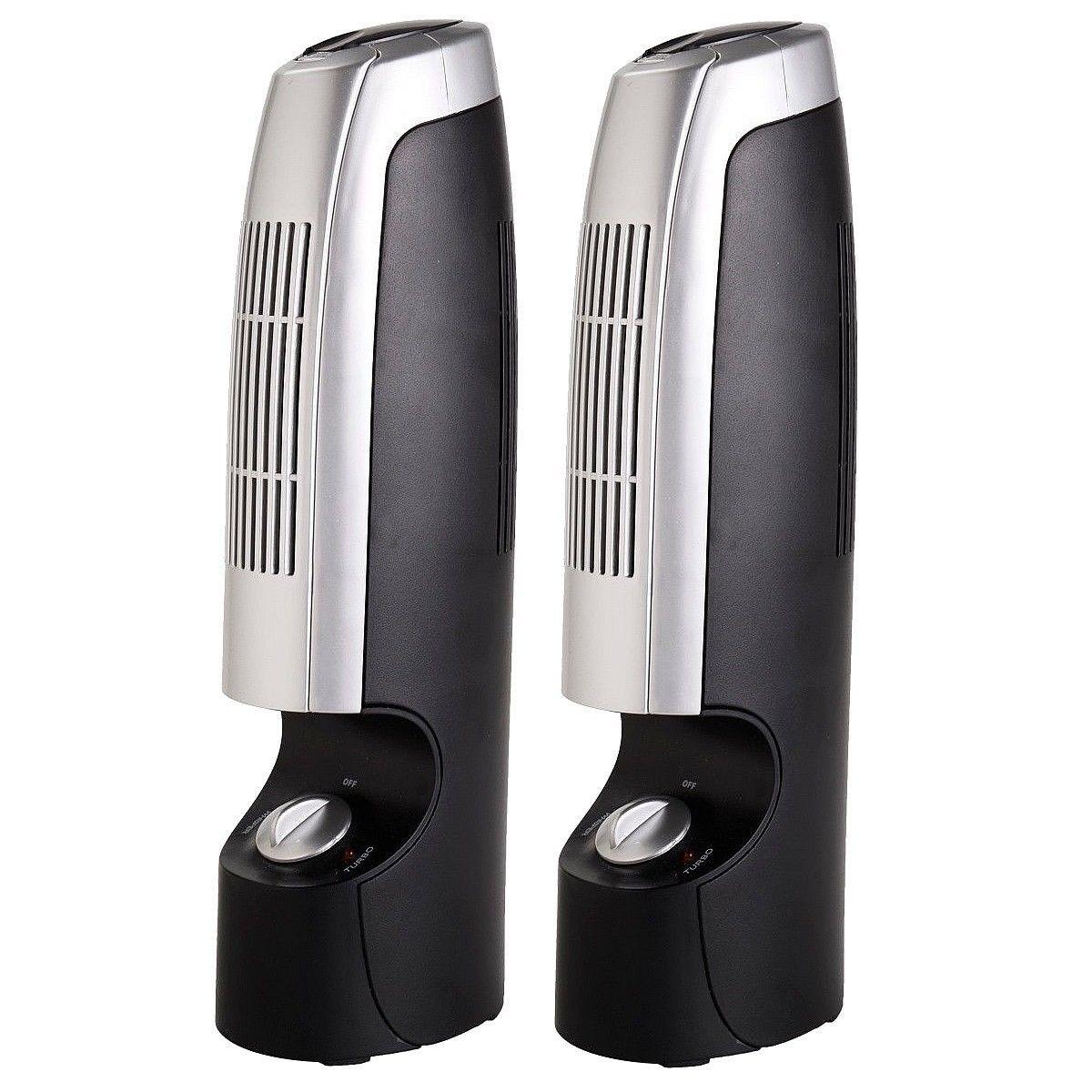 2 pcs Mini Ionic Whisper Home Air Purifier Home air