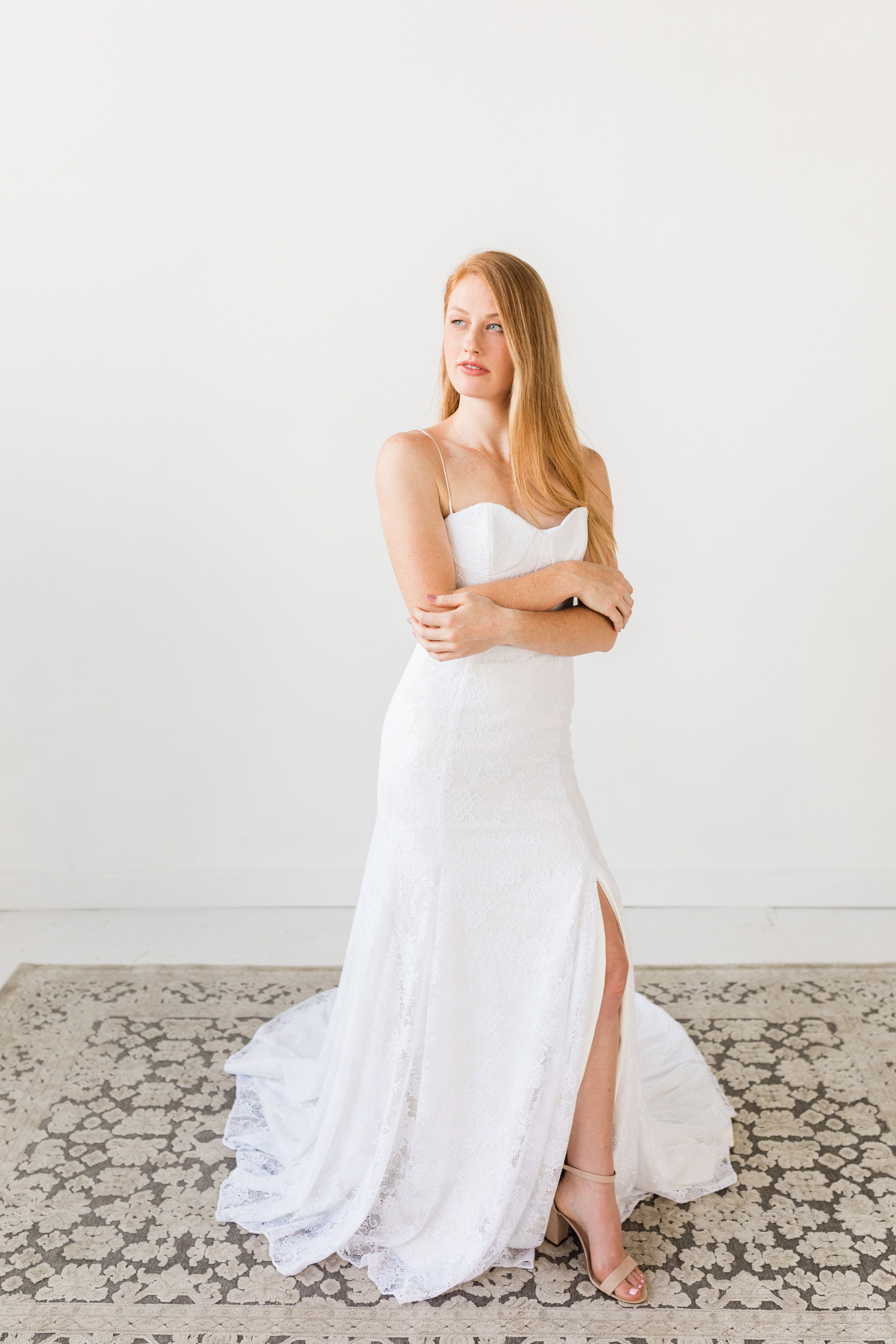 The Charlie Dress From Hyacinth Bridal S 2019 Collection Creative Director Stylist And Planner Perry Rose Media With Images Crepe Wedding Dress Dresses Romantic Dress