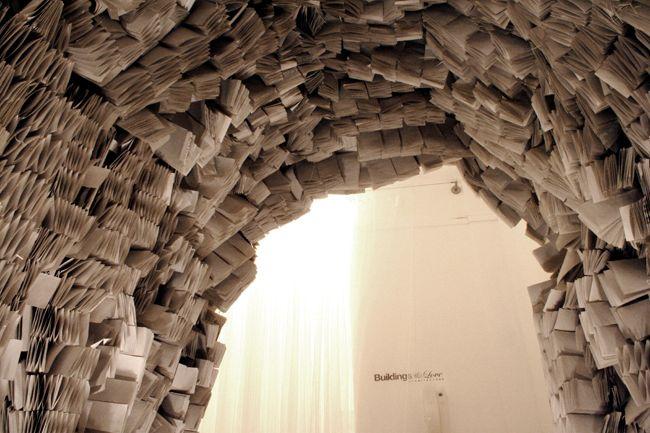 Detail Paper installation - Viola Tarozzi for Buildings and Love Architecture - Paris