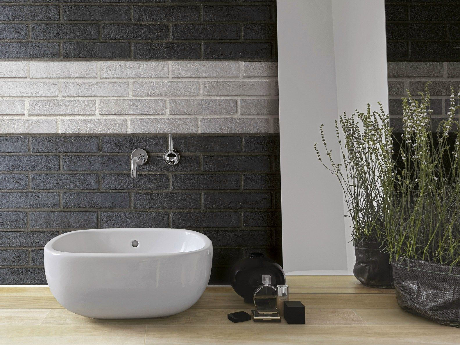 Rivestimento effetto pietra per interni new york by ceramica