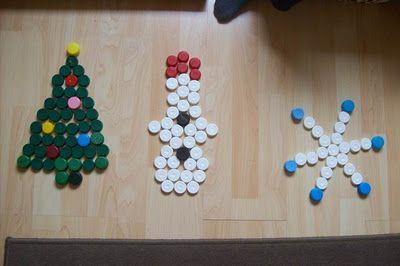 Bygg julmönster med knappar