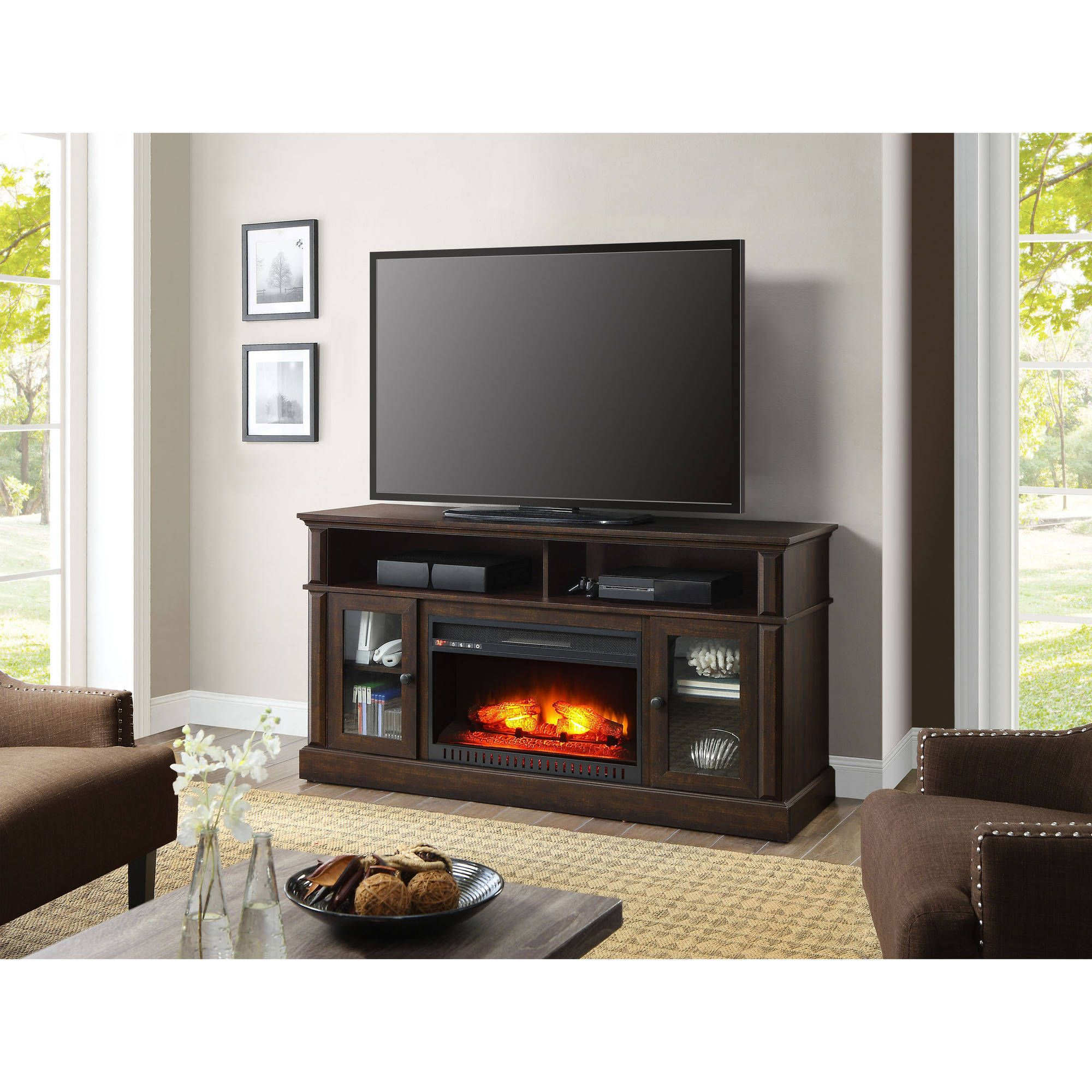 Home Electric Fireplace Entertainment Center Fireplace Tv Stand Electric Fireplace Tv Stand