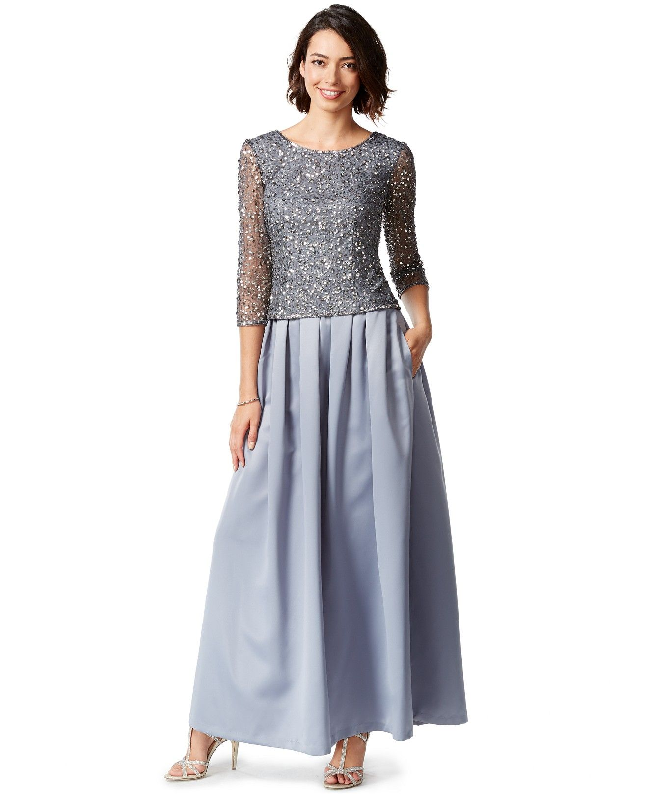 Patra Embellished Sequin Gown - Dresses - Women - Macy\'s | Wedding ...