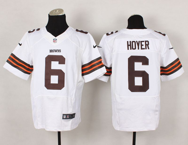 Cleveland White 6 Hoyer White Elite NFL Jerseys   Nfl cleveland ...