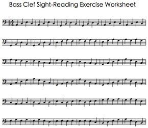 Bass Clef Sight Reading Exercise Worksheet With Images Cello