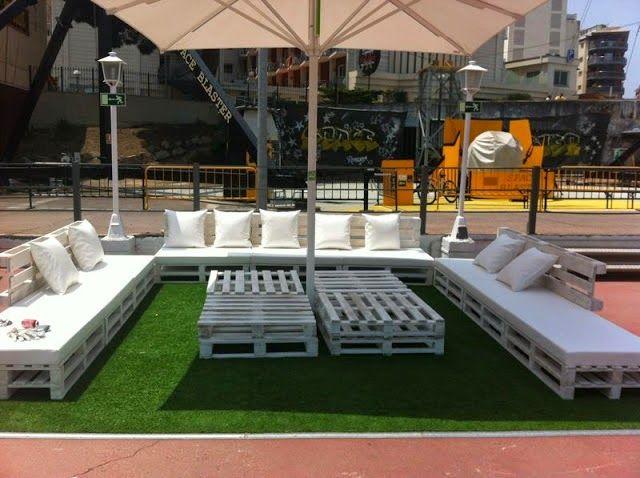 decoracion y muebles para terraza con palets - Terraza Con Palets