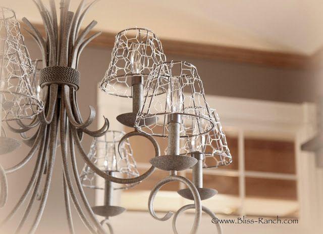 Chicken Wire Light Shade Covers Chicken Wire Wire Chandelier Diy Chandelier