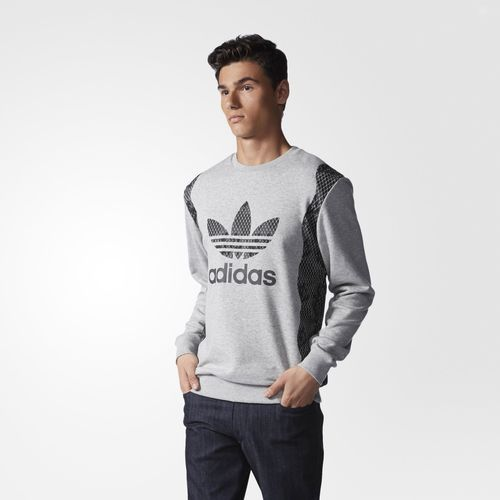 Snake Trefoil Crew Sweatshirt - Grey