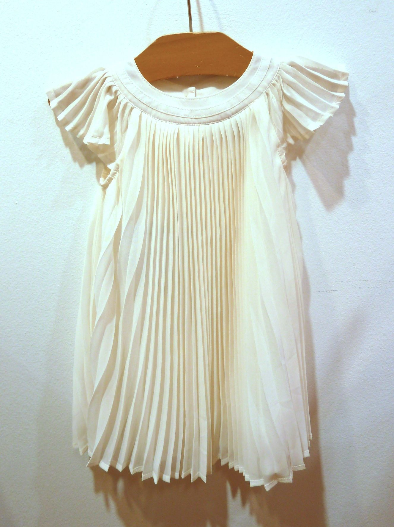 Toddler sized fan pleated silky dress for spring 2012 at Gapkids