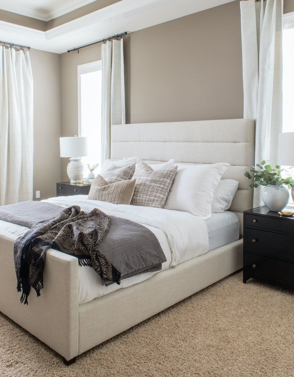 Bedroom Update 101 7 Simple Steps To Elevate Your Master Scout Nimble Apartment Bedroom Design Bedroom Updates Farmhouse Style Bedroom Decor Beige bedroom decorating ideas