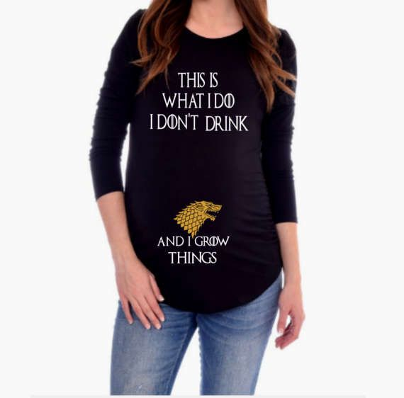 d79b7404cfb98 Game of Thrones Maternity Shirt / I Drink and Know Things / Game of Thrones  Mother To Be / Pregnancy Announcement Shirt / GOT T Shirt