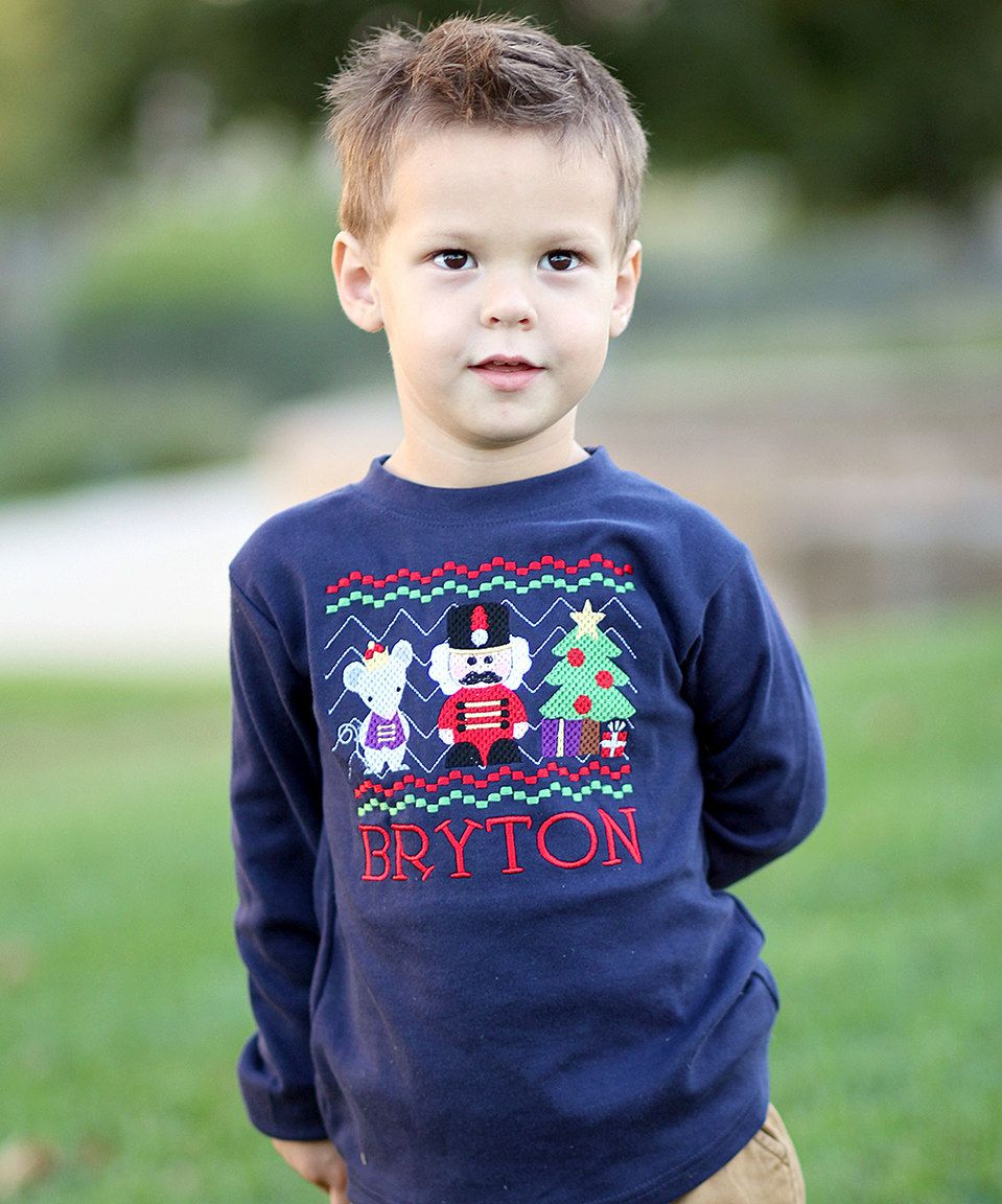 Love this Juxby Navy Nutcracker Personalized Tee Infant