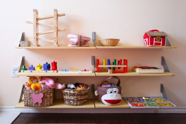 Toddler Montessori Simple Diy Wall Shelves From Ikea Could Make