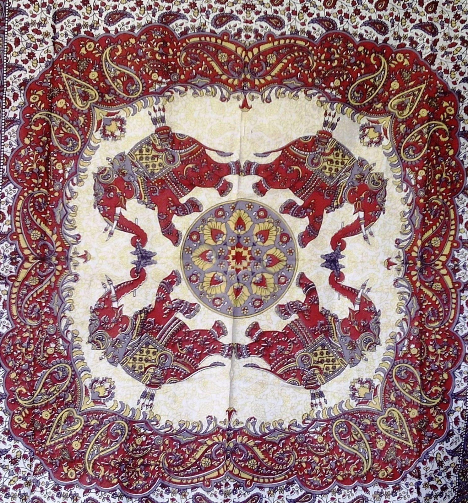 Indian Handmade Red Bedsheet Mandala Hippie Wall Hanging Tapestry Wall Decor Art Ebay Wall Tapestry Wall Hanging Wall Art Decor