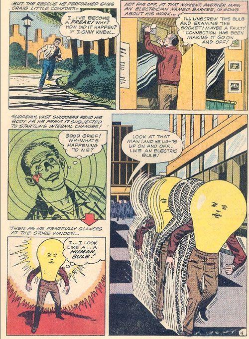 """""""The Human Light Bulb""""-dumbest Super Hero ever..."""