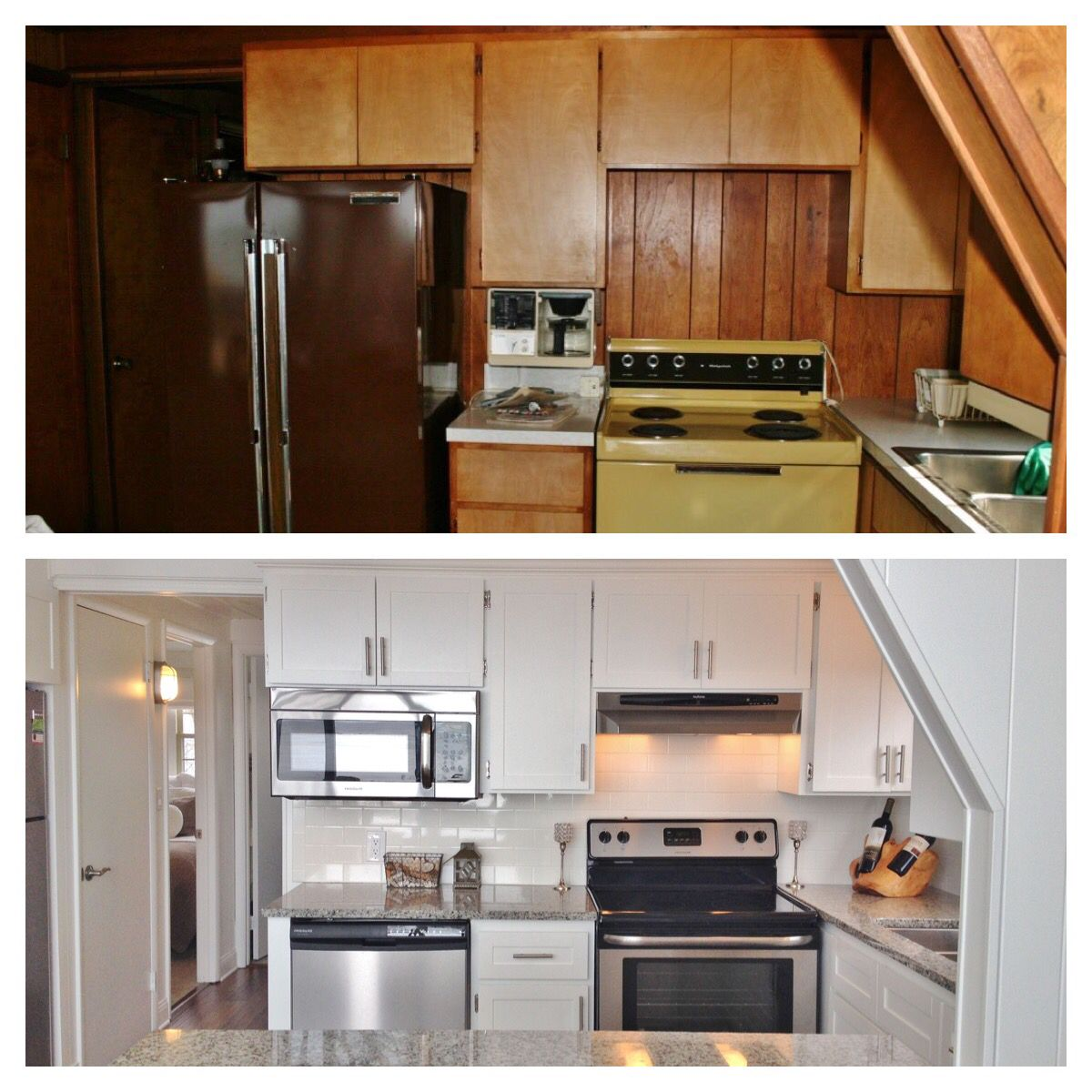 before and after. repurposed cabinets. | a-frame remodel and