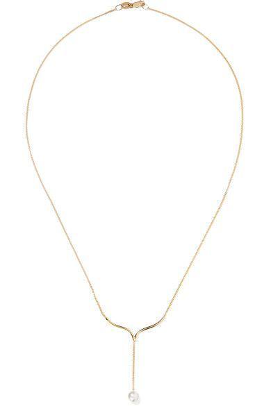 Delphine 9-karat Gold Pearl Necklace - one size Natasha Schweitzer bUpbYe