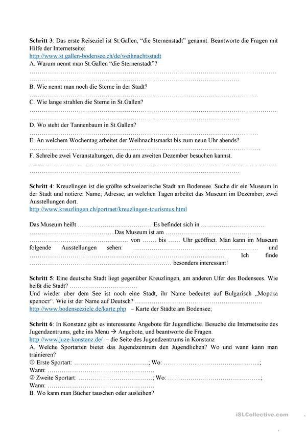 Webquest, Reise DACH | DEUTSCH | Pinterest | Dachs, Reise und Deutsch