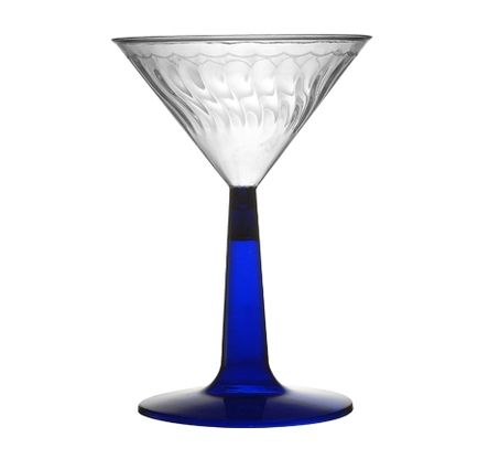 Plastic 6 Oz Blue Stem Plastic Martini Glass 96 Blue Stem Martinis Party Supplies Food Drink Event Holiday Martini Glass Plastic Wine Glass Martini