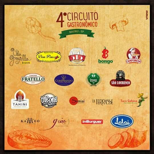 Circuito Gastronômico - Bauru/SP: participantes
