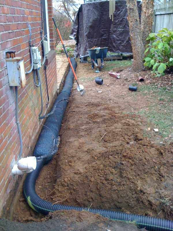 flow french drain basement yard ideas repair pinterest. Black Bedroom Furniture Sets. Home Design Ideas