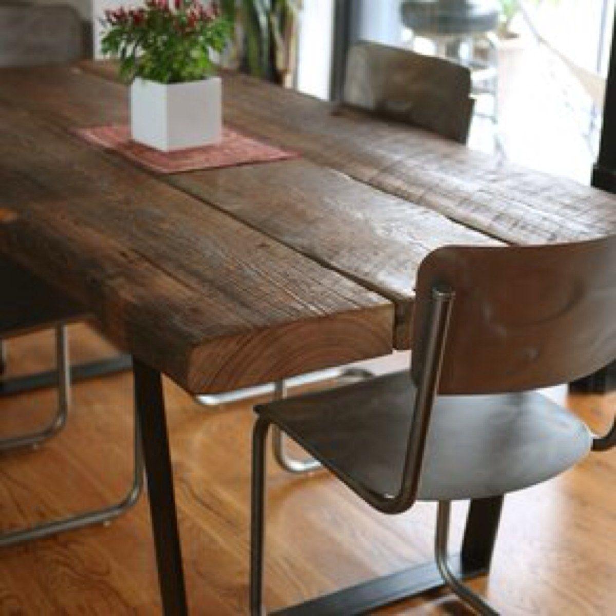 Mesas de hierro y madera dura estacionada mesa de hierro - Mesa de hierro ...