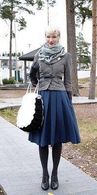 Cute Vintage Winter Dress