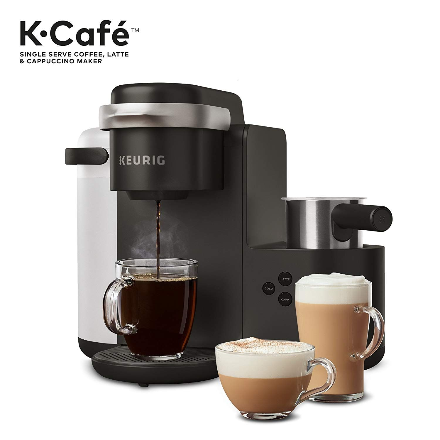 Keurig K Cafe Single Serve K Cup Coffee Maker Cappuccino Maker