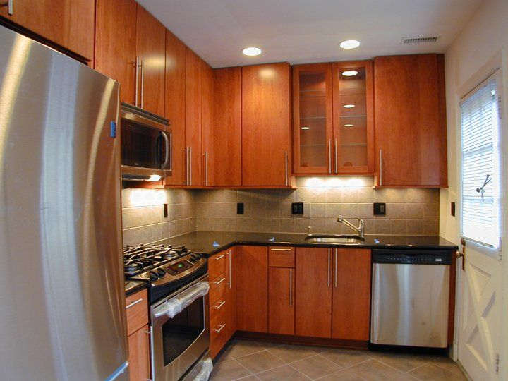 Cherry Cabinets, Flat Panel For Kitchen