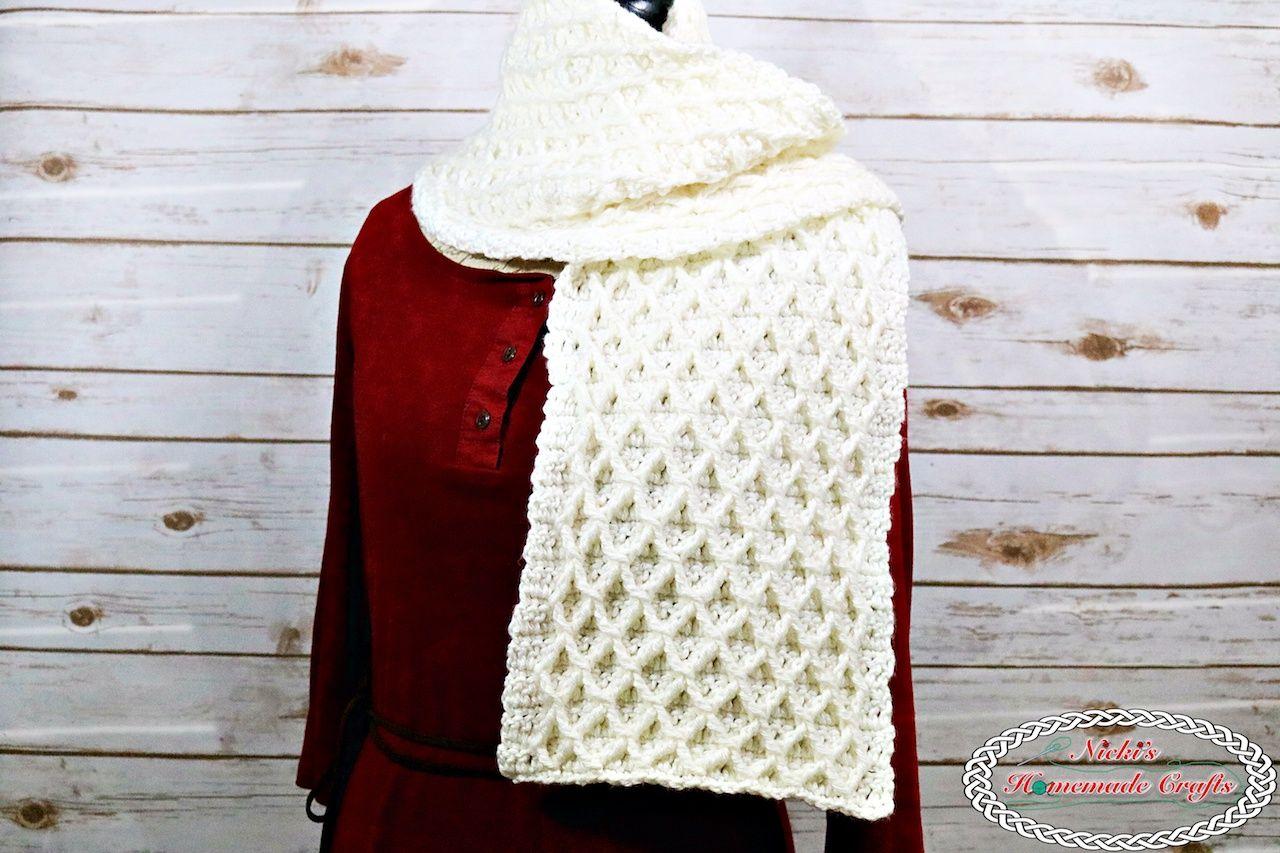 Lattice Scarf - Free Crochet Pattern | Crochet Patterns | Pinterest