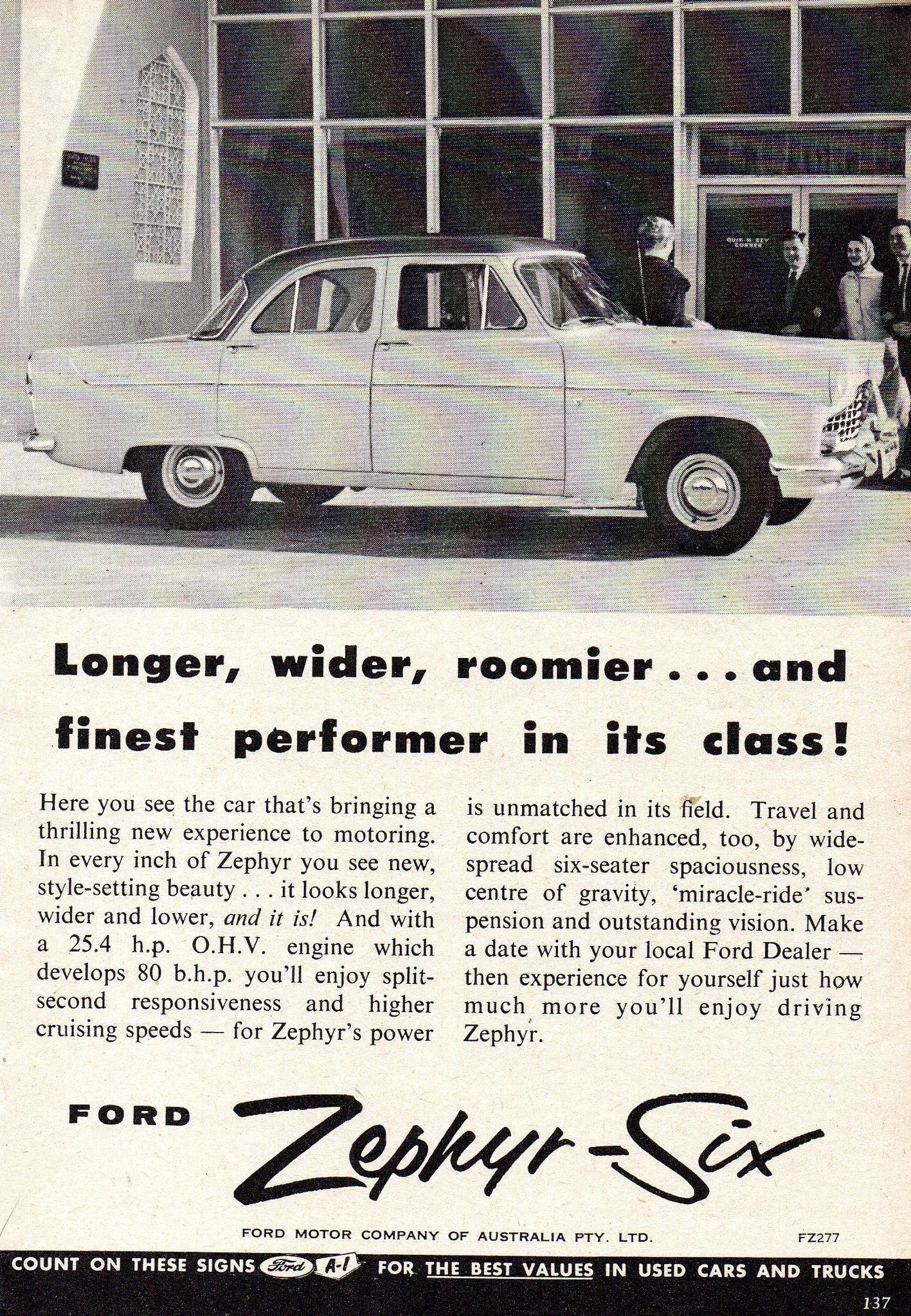 1957 Ford Zephyr Six Mark Ii Sedan Aussie Original Magazine