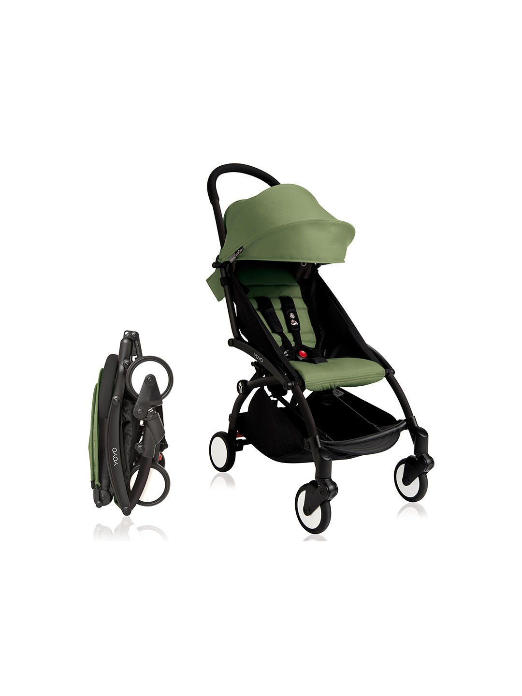 BABYZEN YOYO+ Pushchair, Black/Peppermint Yoyo stroller