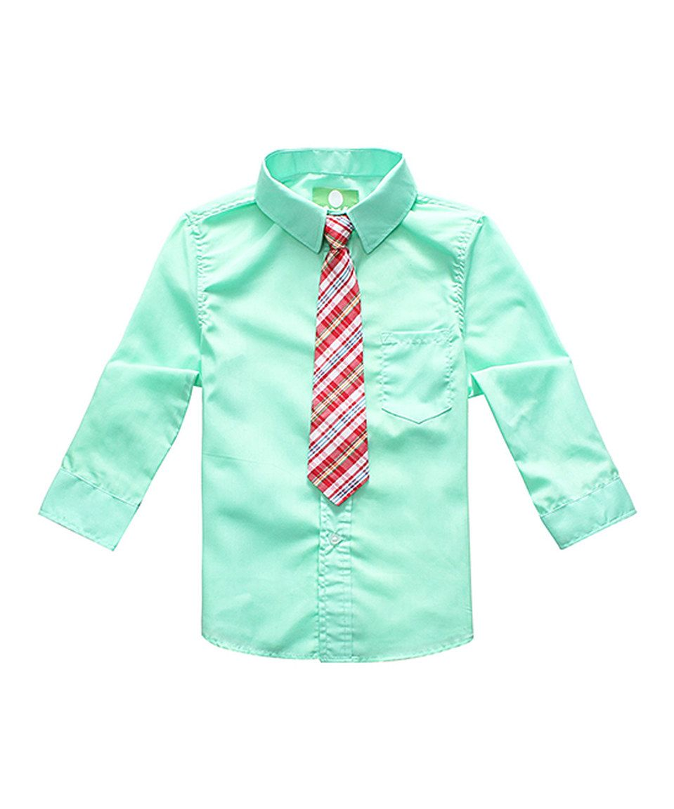Look What I Found On Zulily Mint Green Long Sleeve Button Up Tie