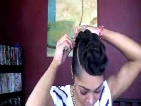 Pleasing 1000 Images About Buns Natural Marley And Kanekelon Hair On Hairstyle Inspiration Daily Dogsangcom