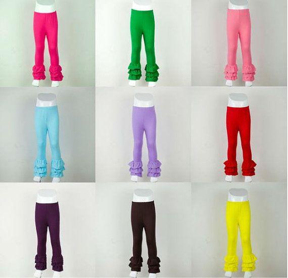 8636ccd5f PRE-ORDER Blank Wholesale Icing Triple Ruffle Leggings Ruffle Pants Shirt  Raglan Baseball Shirt Girls Ruffle Tops Embroidered Ruffle Top
